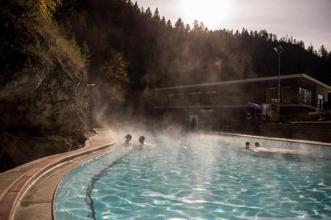 Radium Hot Springs pools in Kootenay National Park.